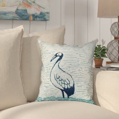 Boubacar Bird Square Outdoor Throw Pillow Size: 20 H x 20 W, Color: Aqua