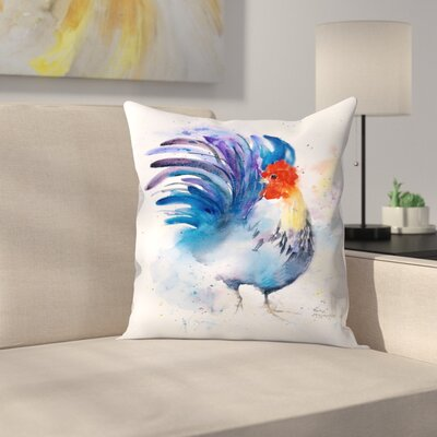 Blue Rooster Throw Pillow Size: 20 x 20