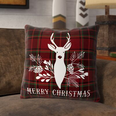 Nyberg Deer Throw Pillow Size: 16 x 16