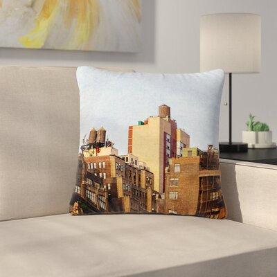 Ann Barnes Vintage NYC Cityscape Outdoor Throw Pillow Size: 18 H x 18 W x 5 D