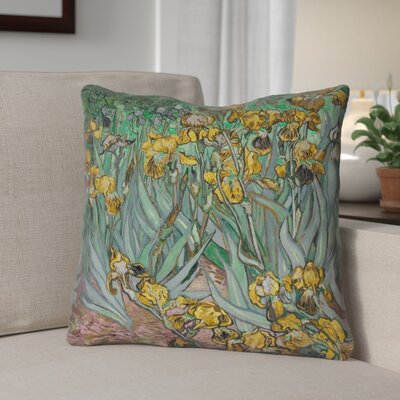 Bristol Woods Irises Double Sided Print Throw Pillow Color: Yellow, Size: 16 x 16