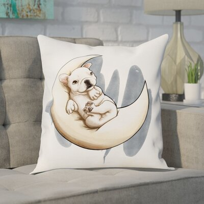 Chadd Lunar Frenchie Throw Pillow