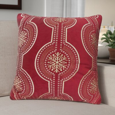 Holiday Velvet Throw Pillow Color: Red
