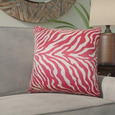 Woroud Zebra Print Throw Pillow Color: Red