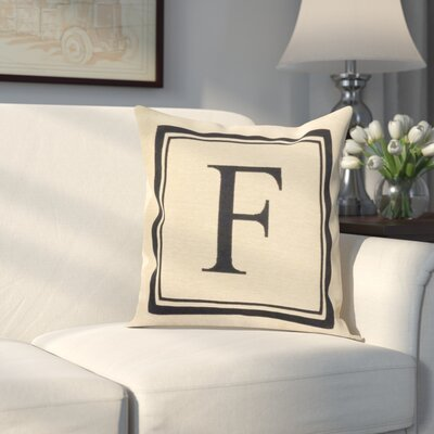 Beaver Creek Monogram Throw Pillow Letter: F