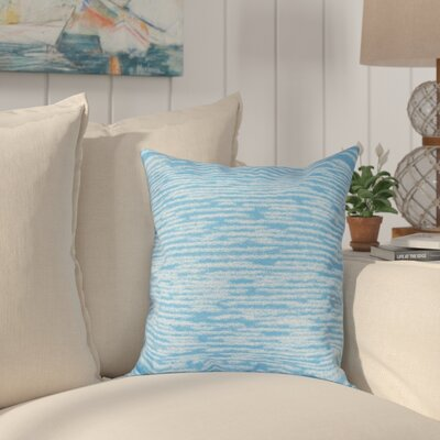 Hancock Marled Knit Geometric Print Throw Pillow Size: 16 H x 16 W, Color: Blue