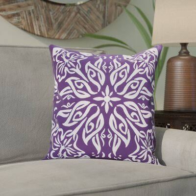 Crisler Print Indoor/Outdoor Throw Pillow Color: Purple, Size: 18 x 18