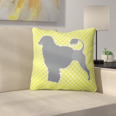 Portuguese Water Dog Square Indoor/Outdoor Throw Pillow Size: 14 H x 14 W x 3 D, Color: Green