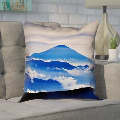 Enciso Fuji Linen Pillow Cover Size: 16 H x 16 W, Color: Blue