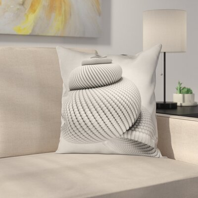 Shell Shaped Figure Square Pillow Cover Size: 18 x 18