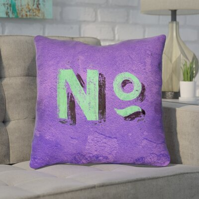 Enciso Graphic Wall Outdoor Throw Pillow Size: 20 x 20, Color: Purple/Green