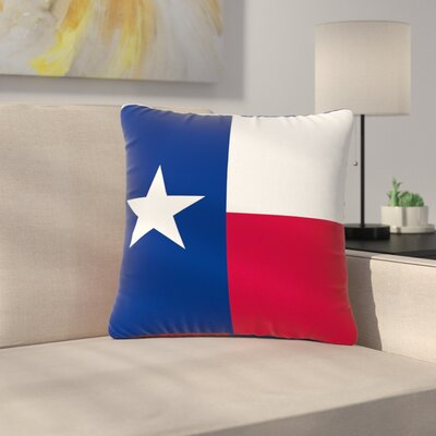 Bruce Stanfield Texas Flag Outdoor Throw Pillow Size: 18 H x 18 W x 5 D