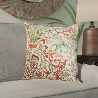 Calandre Floral Throw Pillow Color: Multi, Size: 18 x 18