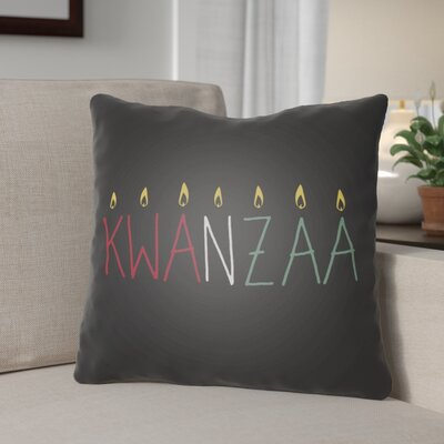 Indoor/Outdoor Throw Pillow Size: 18 H x 18 W x 4 D, Color: Black/Yellow/Red/Green