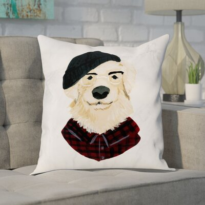 Faria Hipster Golden Pup Throw Pillow