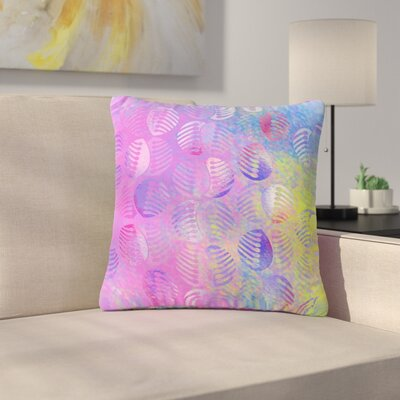 Dan Sekanwagi Poddy Combs - Subtle Pastels Outdoor Throw Pillow Size: 18 H x 18 W x 5 D