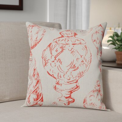Ornaments Linen Throw Pillow Color: Red