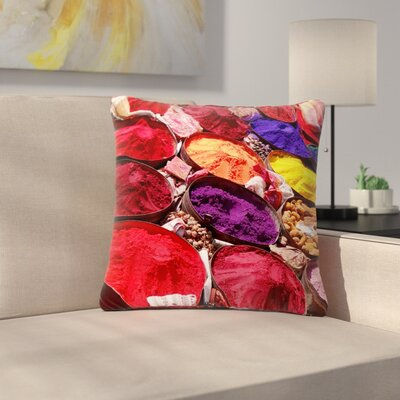 Carina Povarchik Indian Powders Photography Outdoor Throw Pillow Size: 18 H x 18 W x 5 D