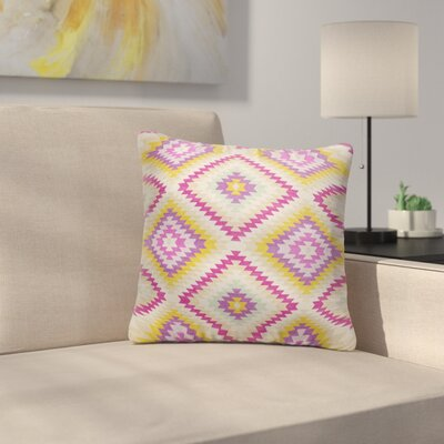 Sulien Indoor/Outdoor Throw Pillow Size: 20 H x 20W x 5 D, Color: Beige/ Pink/ Ivory/ Purple