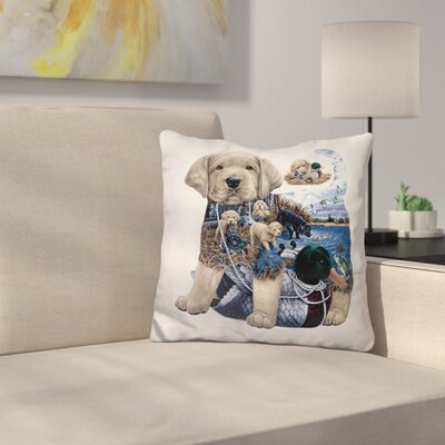 Puppy Tails Throw Pillow