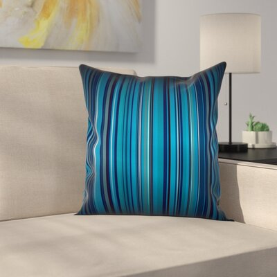 Stripe Vibrant Square Cushion Pillow Cover Size: 16 x 16