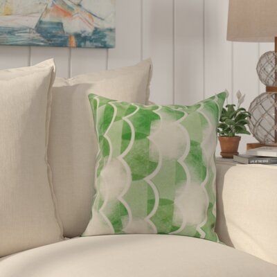 Crider Geometric Print Indoor/Outdoor Throw Pillow Color: Green, Size: 18 x 18
