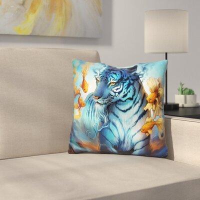 Tiger Fish Throw Pillow