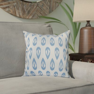 Sabrina Tears Geometric Print Throw Pillow Size: 18 H x 18 W, Color: Blue