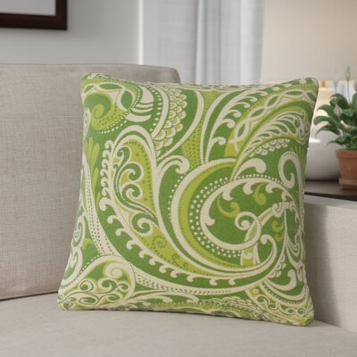 Milano Damask Throw Pillow Color: Kelly