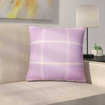 Stirling Rambert Plaid Cotton Throw Pillow Color: Hyacinth