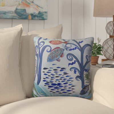 Burkart Fancy Fish Reef Indoor/Outdoor Throw Pillow Size: 26 H x 26 W
