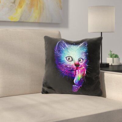 Slurp Throw Pillow Color: Black/Blue