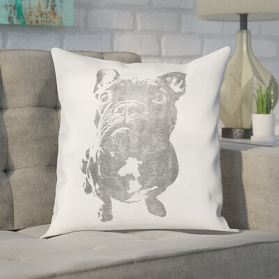 Frazier Frenchie Throw Pillow