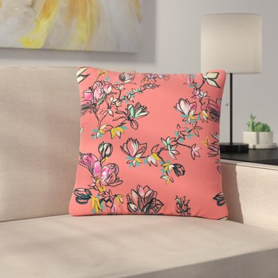 Victoria Krupp Magnolia Floral Outdoor Throw Pillow Size: 18 H x 18 W x 5 D