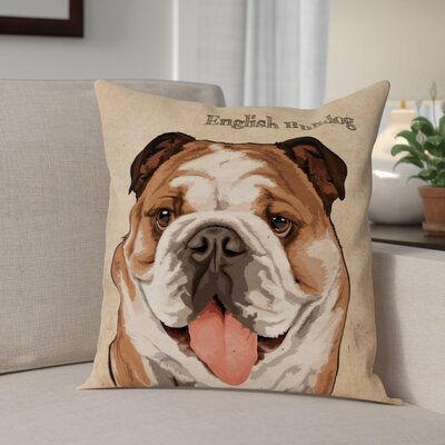 Crispin English Bulldog Throw Pillow