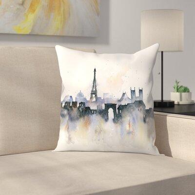 Paris Throw Pillow Size: 16 x 16