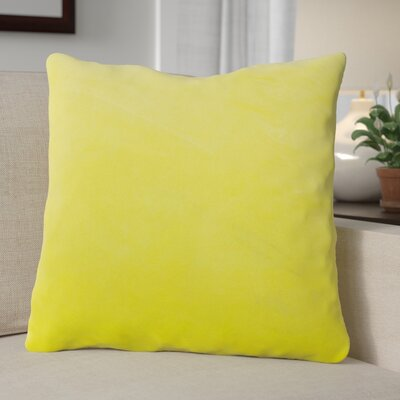 Eason Supersoft Shell Pillow Cover Color: Butter Cup