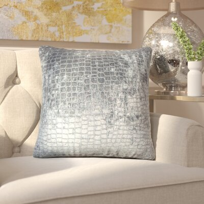 Chaim Solid Throw Pillow Color: Graphite