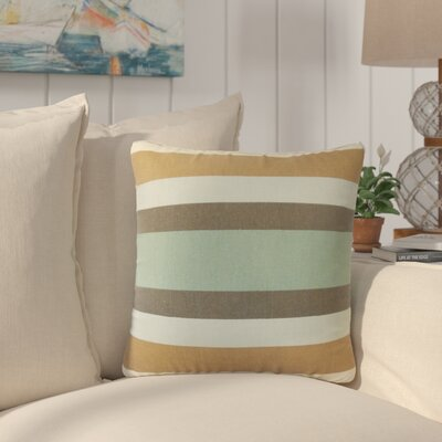 Tahsha Stripes Cotton Throw Pillow Color: Brown