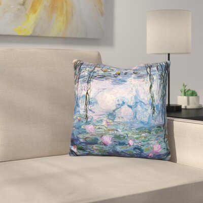 Monet Waterlillies Throw Pillow