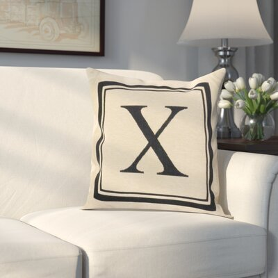 Beaver Creek Monogram Throw Pillow Letter: X