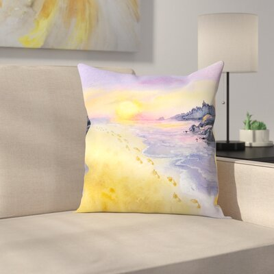 Into The Sunset Throw Pillow Size: 18 x 18