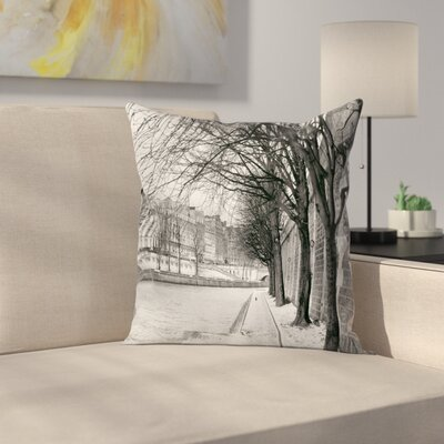 Seine River Square Pillow Cover Size: 24 x 24