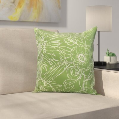 Jarred Floral Print Indoor/Outdoor Throw Pillow Color: Green, Size: 18 x 18