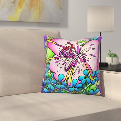 Flower Frog Throw Pillow