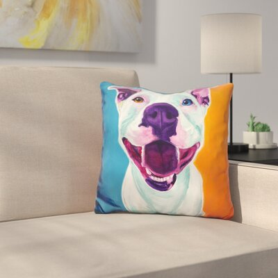 Pit Bull Angel Throw Pillow