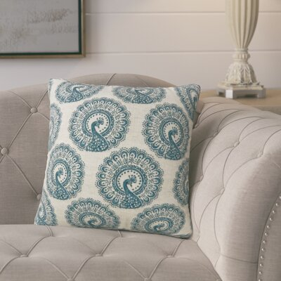 Turton Contemporary Throw Pillow Color: Blue, Size: 18 x 18