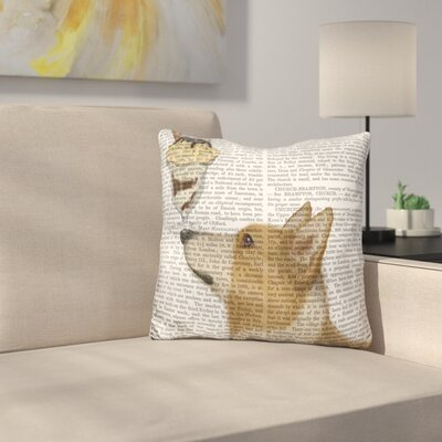 Corgi Tan and Ice Cream Throw Pillow