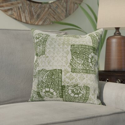 Hirth Patches Indoor/Outdoor Throw Pillow Color: Green, Size: 16 x 16