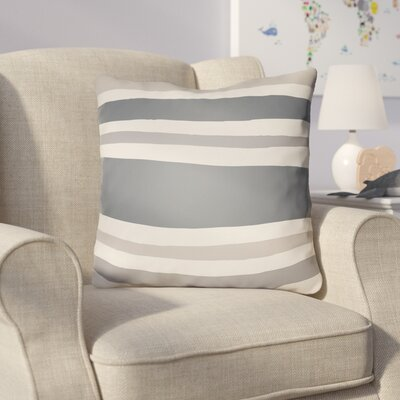 Colinda Striped Indoor Throw Pillow Size: 22 H x 22 W x 5 D, Color: Grey